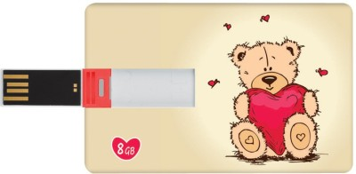 Dizionario Valentine Gifts for Him and Her Teddy Double 8 GB  Pen Drive (Multicolor)