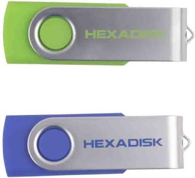 Hexadisk HXPD16GRBL 16 GB  Pen Drive (Green, Blue)