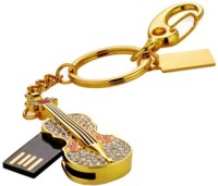 Microware Golden Guitar Shape 32 GB  Pen Drive (Gold)