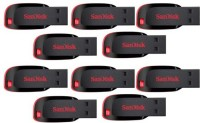 SanDisk Combo Of 10 Pcs 4 GB  Pen Drive (Black)