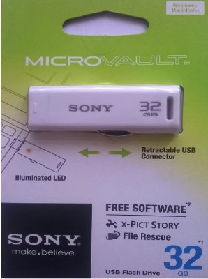 Sony USM32GR/WZ IN 31300489 32 GB Utility Pendrive (White)