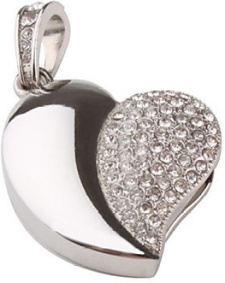Quace Silver Heart 16 GB  Pen Drive (Multicolor)