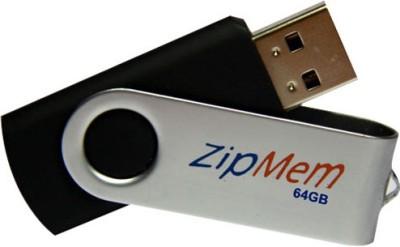 Zipmem S15BM 64 GB  Pen Drive (Black)