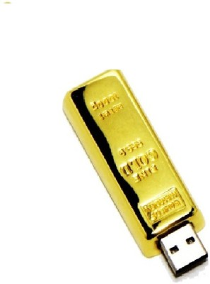 Finedor USB GoldBar 8 GB  Pen Drive (Gold)