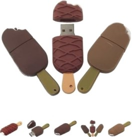 Microware Chocolate Ice Cream Shape 16GB Pen Drive