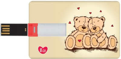 Dizionario Valentine Gifts for Him and Her Pen Teddy ILU 8 GB  Pen Drive (Multicolor)