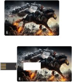 Print Shapes Horse With Worrier Credit Card Shape