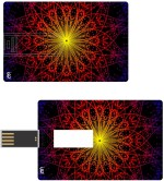 Print Shapes REd flower abstract Credit Card Shape