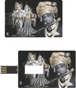 Print Shapes Radha Krishna Black Credit Card Shape