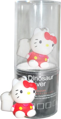 Dinosaur Drivers Miffy Red Sitting 16 GB  Pen Drive (Multicolor)