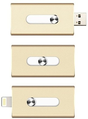 Coolnut Caiphpd-27(64 Gb) I-Flash Dual Port Usb Flash Drive 64 GB  Pen Drive (Gold)