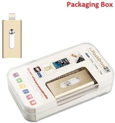 Coolnut Caiphpd-27 I-Flash Dual Port 64 GB  Pen Drive (Gold)