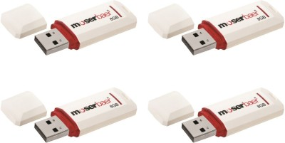 Moserbaer Knight Pack 4 8 GB  Pen Drive (White)