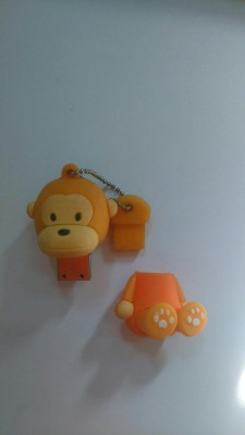 Yes Celebration Monkey 4 GB  Pen Drive (Orange)