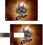 Print Shapes Skull with sword Credit Card Shape