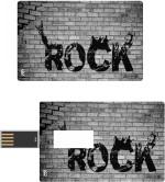 Print Shapes Rock on Walll Credit Card Shape