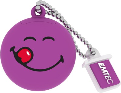 EMTEC Smiley's World 8 GB  Pen Drive (Purple)