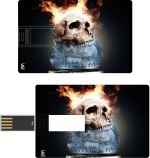 Print Shapes Burning skull Credit Card Shape