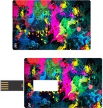 Print Shapes Colorful paint Credit Card Shape