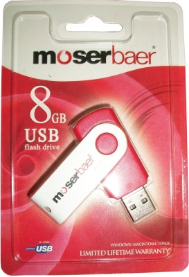 Moserbaer USB Drives 8GB swivel 8 GB Utility Pendrive (Red)