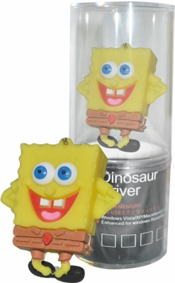Dinosaur Drivers Sponge Bob Smile 32 GB  Pen Drive (Yellow)