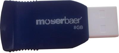Moserbaer Racer 8  GB Pen Drive Dark Blue & White available at Flipkart for Rs.299