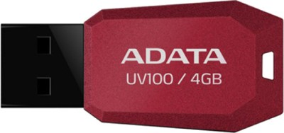 Adata DashDrive UV100 Slim Bevelled 8 GB Pen Drive (Red)
