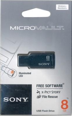 Sony Micro Vault USM8M1/B8 GB Pen Drive (Black)