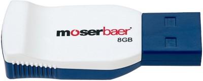 Moserbaer Racer 8  GB Pen Drive White & Blue available at Flipkart for Rs.350