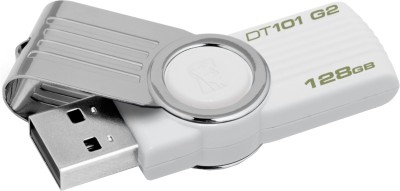 Kingston Data Traveler 101 G2 128 GB Pen Drive (White)