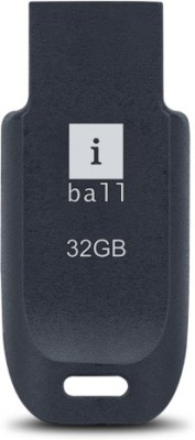 Iball CRESTP9 32 GB  Pen Drive (Black, Blue)