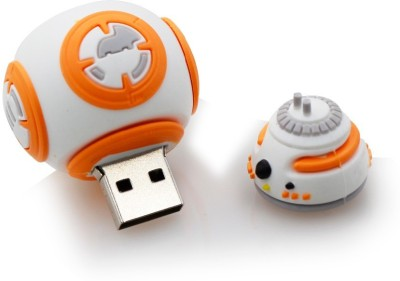 Microware Starwars BB Robot 32 GB Pen Drive (White, Orange)