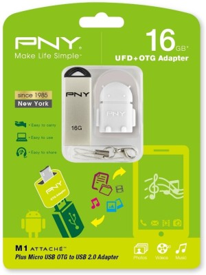 PNY M1 Attache 16 GB  Pen Drive (Silver)