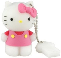 Quace Hello Kitty Cute 4 GB  Pen Drive (Pink)
