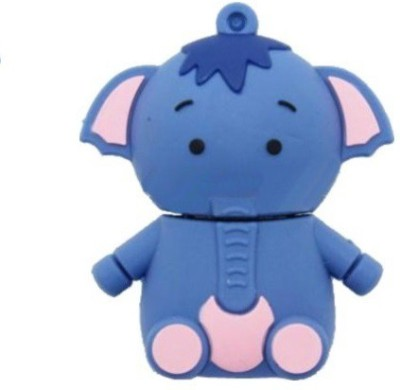 Quace Baby Elephant 32 GB  Pen Drive (Blue)
