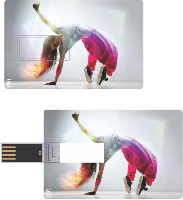 Print Shapes Breakdance girl Credit Card Shape