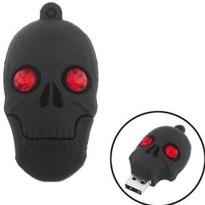 Quace Black Skull 16 GB  Pen Drive (Multicolor)