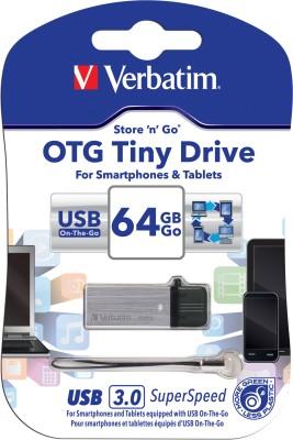 Verbatim Store'n' Go OTG Tiny USB 3.0 Drive 16 GB  Pen Drive (Silver)