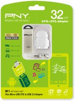 PNY M1 Attache With OTG Adapter 32 GB Pen Drive (Silver)