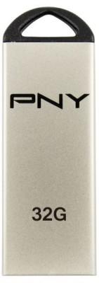 PNY USB Flash Drive Mini M1 Attache 32GB 32 GB  Pen Drive (Silver)