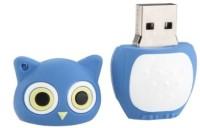Microware Owl Shape 16 GB  Pen Drive (Blue)