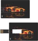 Print Shapes Lamborghini Fire Credit Card Shape