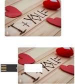 Print Shapes I love you By Sticks Credit Card Shape