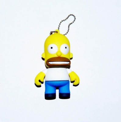 Dinosaur Drivers Homer Simpson 8 GB  Pen Drive (Yellow)