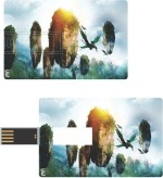 Print Shapes Avatar Mountain IN SKY Credit Card Shape
