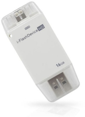 Gadget Bucket iFlash Device Memory 16 GB  Pen Drive (White)