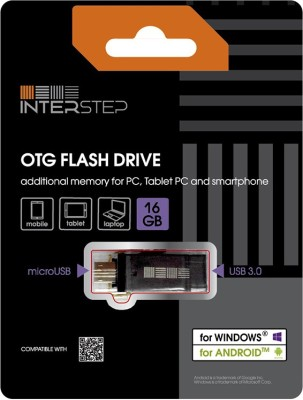 Interstep IS-FD-OTG16GMET-ENGB902 16 GB  Pen Drive (Black)