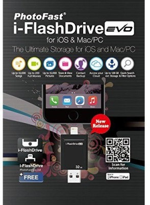 eGizmos PhotoFast i-FlashDrive EVO USB 3.0 OTG 16 GB  Pen Drive (Black)