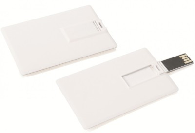 Bgl Credit Card Shape Usb 8 GB  Pen Drive (White)