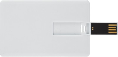 Bgl Credit Card Shape Usb 8 GB  Pen Drive (White)